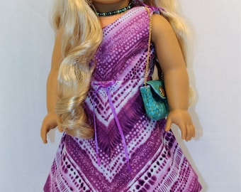 Hot Summer Dress and Accessories, 18 Inch Doll Dress
