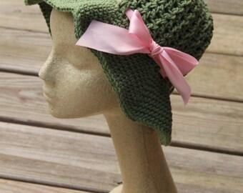 Cotton Sun Hat, Womens Sun Hat, Crochet Beach Hat, Cotton Hat, Sun Bonnet, Sun Hat, Cloche Sun Hat, Floppy Beach Hat,  Brimmed Hat