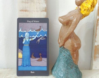 Ran Norse Goddess Sculpture Statue Ceramic Clay Altar Art Handmade