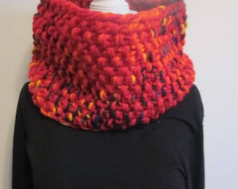 Red chunky basic knitted collar/ear mouth warmer/cowl/neck warmer/wrap/infinity scarf