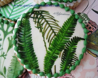 Botanical Fern Edible Image Wafer Papers - cookies, cakes, cupcakes, chocolates