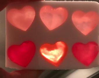 Valentine's Hearts soap