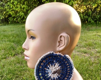 PATTERN ONLY Extra Large Crochet Earrings Pattern Step by Step Photo Tutorial