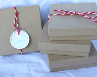 10BRoWN KRaFT JeWeLRY BoXeS--DIY Crafts,party favors, weddings, shabby chic wedding, gifts-10ct