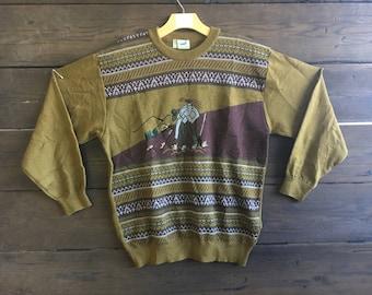 Vintage 70/80's Crocodile Sweater