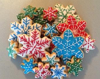 Large Snowflake Sugar Cookie platter