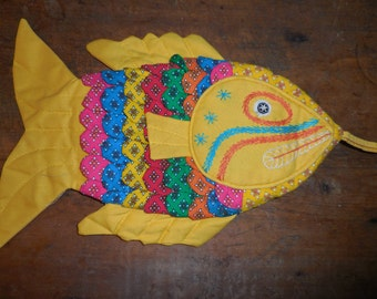 Fun Colorful Fish Potholder