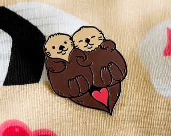Significant Otters Enamel Pin / Lapel Pin / Jewelry / Badge