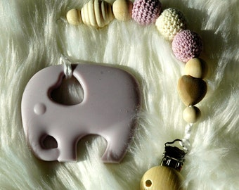 Silicone Teether and Pacifier Clip