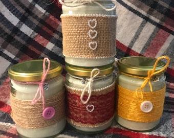 Homemade natural soy candles