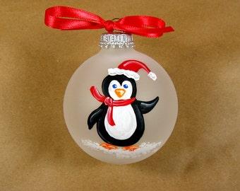 Penquin Ornament on White