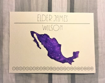 Custom LDS Missionary Countdown Watercolor 5x7