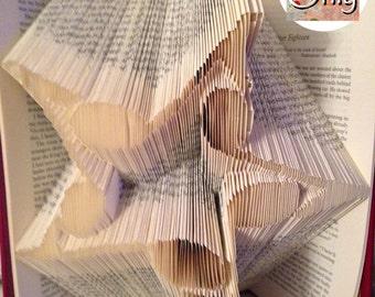 Music Star Folded Book Art Pattern