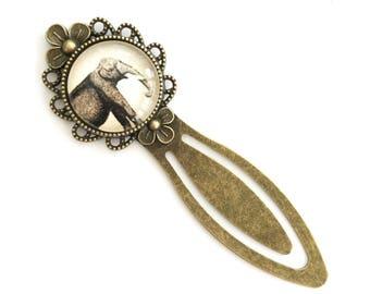 Elephant Antique Brass Bookmark