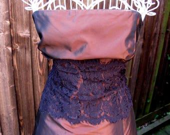Laura Ashley Dress, Vintage Laura Ashley, Vintage Dress, UK Size 12, US Size 8, Party Dress, Evening Dress, Bronze Dress, Net Petticoat
