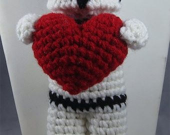 Valentine Star Wars Inspired Storm Trooper Heart Plush Crochet
