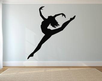 Wall Sticker Decal Ballet Ballerina Dance Dancer Gymnastic Girl 1522b