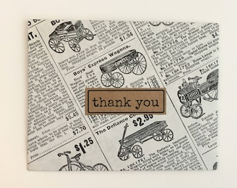 Thank You Cards Thank You Note Card Set Notecard Set Thank You Notes Greeting Cards Handmade Rustic Note Cards