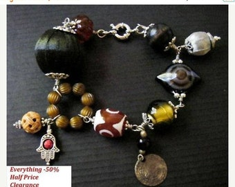 Clearance sale Boho chic beaded statement bracelet