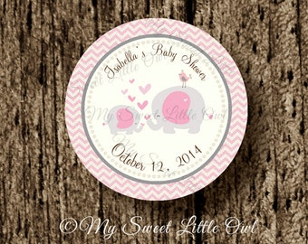 Baby Shower Elefante Rosado ~ Owl label owl birthday owl baby shower mint pink owl tag