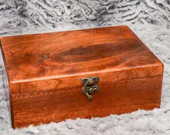 Handmade wooden stash box