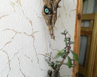 Art object pots for flowers