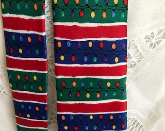 Vintage Christmas Lights Necktie