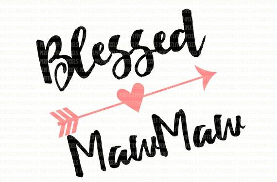 Line Art Valentine : Blessed mawmaw svg clip art cut files valentine arrow love