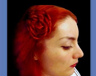bridesmaid hair wedding hair rose flower hairclip accessories hair piece clip bridal hair prom wedding flower head piece hair accessory hair