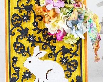 Easter Bunny Layered Easter Greeting Card