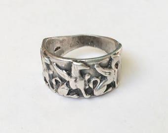 vintage sterling griffin ring, size 7.25