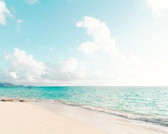 Hawaii Beach Print, Island Print, Tropical Decor, Aqua House Decor, Hawaiian Art, Blue Water, Ocean, Tropical Beach Scene, Island Living