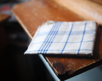 Antique linen tea towel