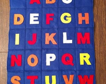 ABC Pocket Chart - Handmade, Learning tool