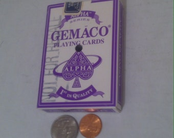 Vintage Playing Cards, Poker Cards, 5 Card Stud, 21, Gambling, Made in USA, Gemaco Playing Cards
