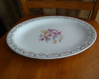 "Rare Vintage ""W.S. George Derwood"" Oval Platter"
