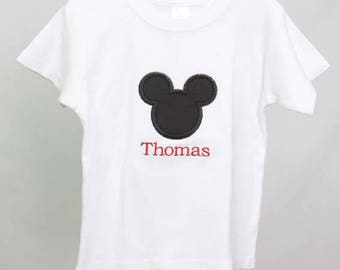 Mickey Mouse Birthday Outfit | Mickey Mouse Birthday Boy Outfit | Mickey Mouse Tee Shirt | Mickey Mouse Outfit | Baby Mickey Mouse | 292966