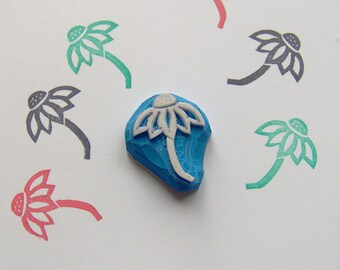 Echinacea Flower Rubber Stamp, Echinacea stamp, flower stamp, daisy rubber stamp, wrapping, cute flower, scrapbooking, cardmaking, Echinacea
