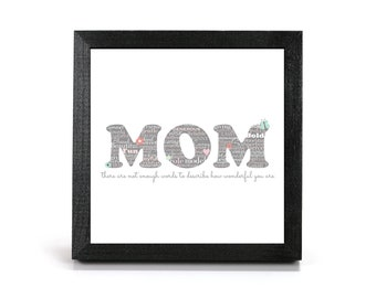 Mom - Cubicle Frame/Office Print/Cubicle Decor/Home Decor