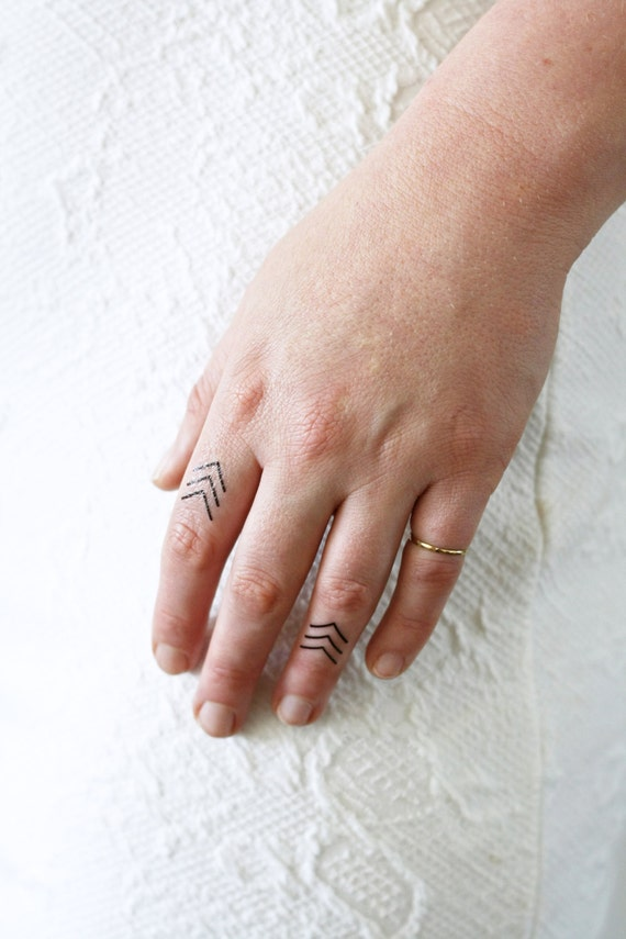 4 small arrow temporary tattoos small temporary tattoo for Temporary finger tattoos