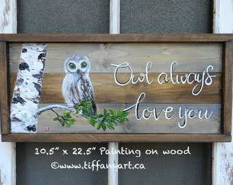 Owl gifts, Owl decor, Owl always love you, Owl painting, Owl art, Owl decal, Owl decoration, Owl wall art, Owl wall decal, Owl wall decor