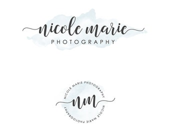 Mini Branding Package, Photography Logo and Watermark, Watercolor Premade Marketing Kit 2p01