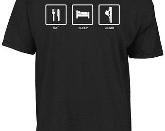 Eat sleep climb - mountain climber, rock climber t-shirt