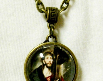 Christ Carrying the Cross necklace - AP17-104