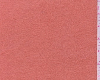 Dark Peach Polyester Fleece, Fabric By The Yard