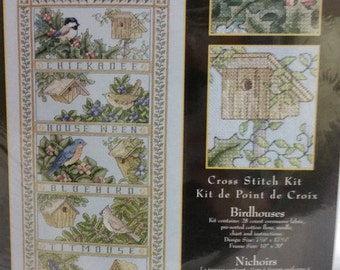 "Teresa Wentzler Counted Cross Stitch Kit ""Birdhouses"" # 113953 from Leisure Arts"