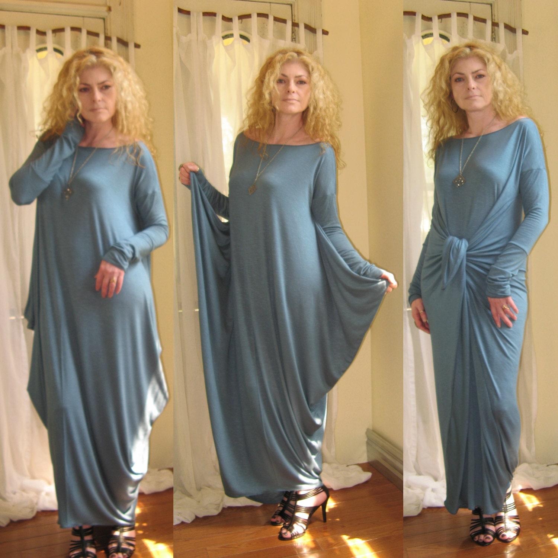 Loose long sleeve maxi dress