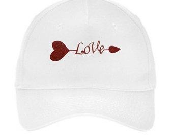 Baseball Hats, Glitter Hats, Glitter Caps, Love, Red Glitter, Bling, Bling Hat, Baseball Caps, Hats, Caps, Valentines Day, Gift Ideas