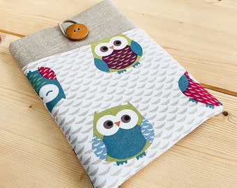 Cute owls Kindle Paperwhite fabric case, Kindle Touch case, Kindle Fire sleeve, Kobo Aura pouch, Kobo Glo case, Kobo Touch sleeve