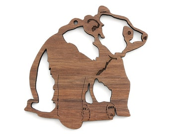Panda Bear Ornament- Timber Green Woods. Sustainable Harvest Wood. Made in the USA!